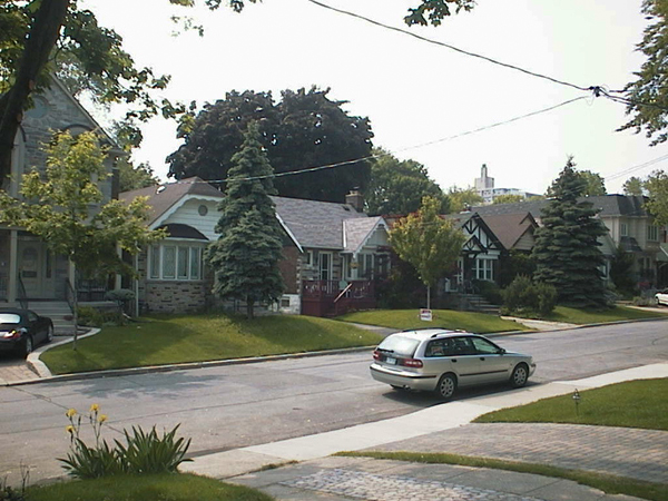 Directly across the street – lawns.