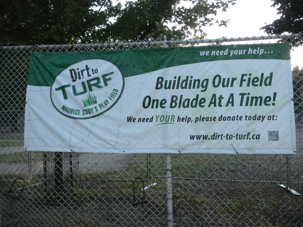 """Propaganda (no reference to artificial turf). It should have read: """"One plastic blade at a time."""